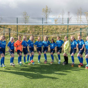 Alford Academy Women's Football Team strips provided by Mackie's of Scotland