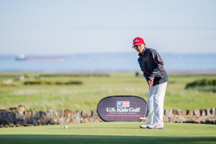 An image from the US Kids Golf European Championship shared by Edinburgh PR agency to spread the news of the record number of entrants to the 2018 event