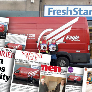 Eagle Couriers gives homeless people a fresh start Scottish PR