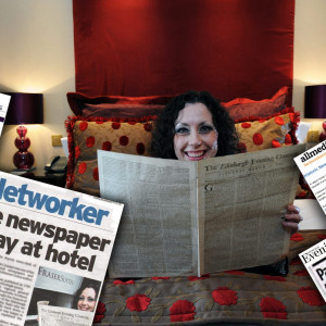 Fraser Suites occupy the previous offices of The Edinburgh Courant and hotel PR experts gained coverage for them as they obtain a copy of the historical paper