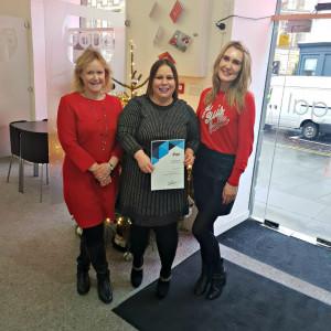 Boyd Legal property team holding ESPC Customer Service Award 2018 in Legal PR Photo
