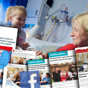 Charity PR work by the expert team at Holyrood PR reaps rewards for ECHC's Advent Calendar Doors Campaign