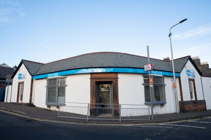 An image of the exterior of Boyd Legal's new Fife office