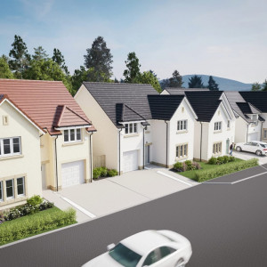 BELWOOD OAKS street scene at CALA Homes (East) Penicuik development a Property PR story