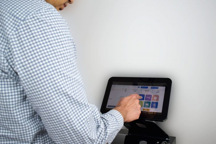 Tech PR photography of ground-breaking ePOS Hybrid software