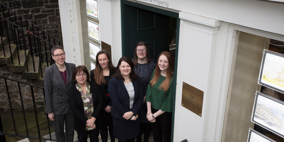 A legal PR image of Gilson Kerr staff members at their Edinburgh office