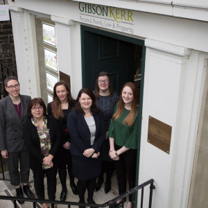 A legal PR image of Gilson Kerr staff members at their Edinburgh office