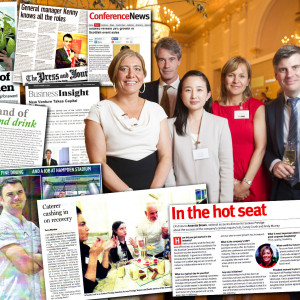 Sodexo staff profiles lead to Scottish PR media success. Picture shows range of media coverage from online and print publications