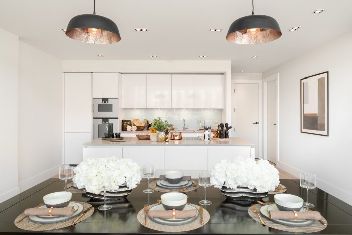 Property PR photography by Zac and Zac shows luxury kitchens at The Crescent at Donaldson's by CALA Homes (East)