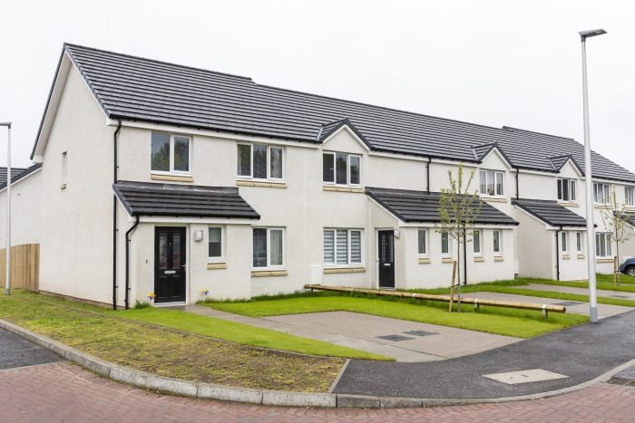 Property PR photography of much needed affordable housing in Angus