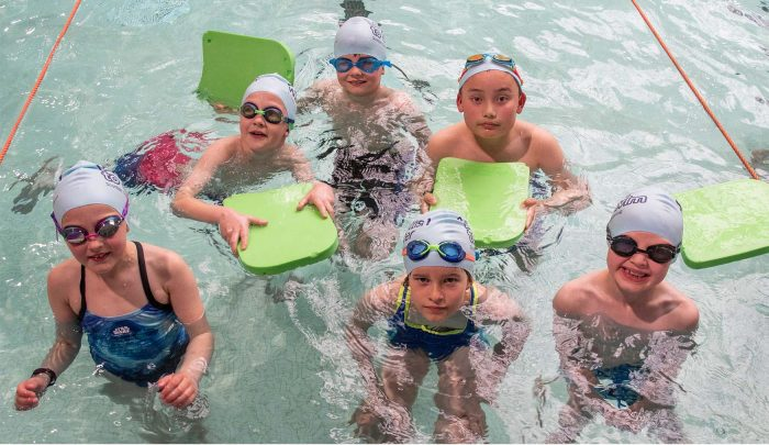 PR photography of the Learn to Swim Programme at Hawick Swimming Pool