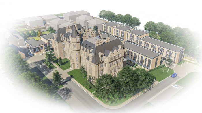 Property PR Aerial view of Edinburgh's Royal Blind School at Craigmillar Park