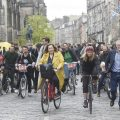 PR photography of Edinburgh's first Open Streets day