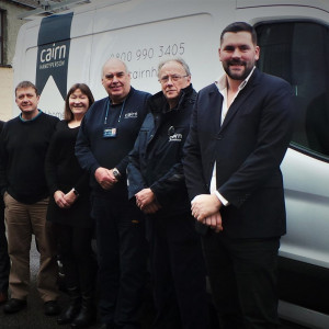 The handy man team at Cairn Housing Assocaiotn celebrate their 10th anniversary - having saved the NHS over £6