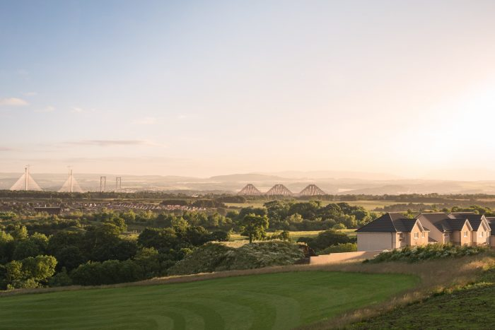 Property PR image shows last remaining homes at CALA Homes (East) Craigpark development in Ratho