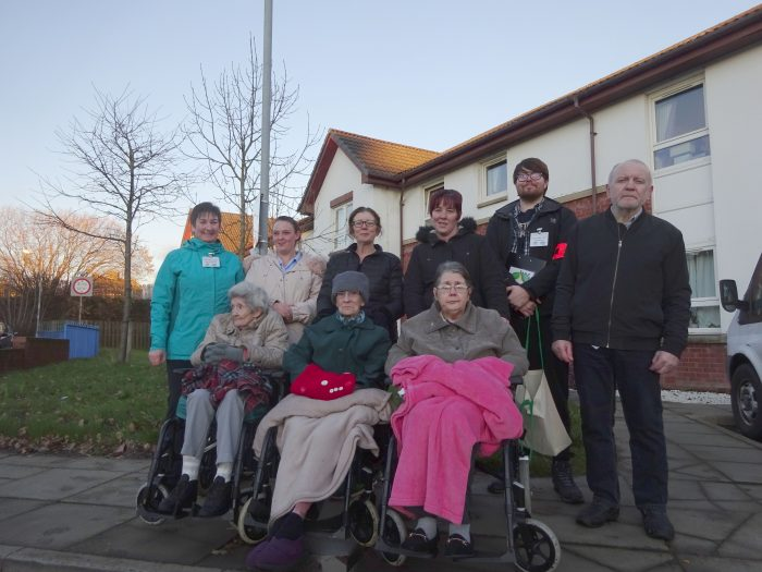 Charity PR photograph of Beechwood Care Home Health Walk in Wishaw, North Lanarkshire