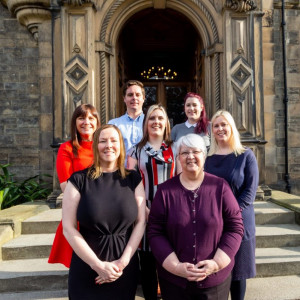 Image shows the team at Domus, University of Edinburgh's private lettings team - which has seen its stock of housing grow to 300+