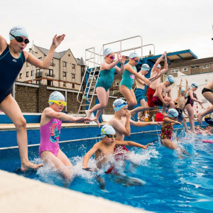 First ever Learn to Swim event is held outdoors