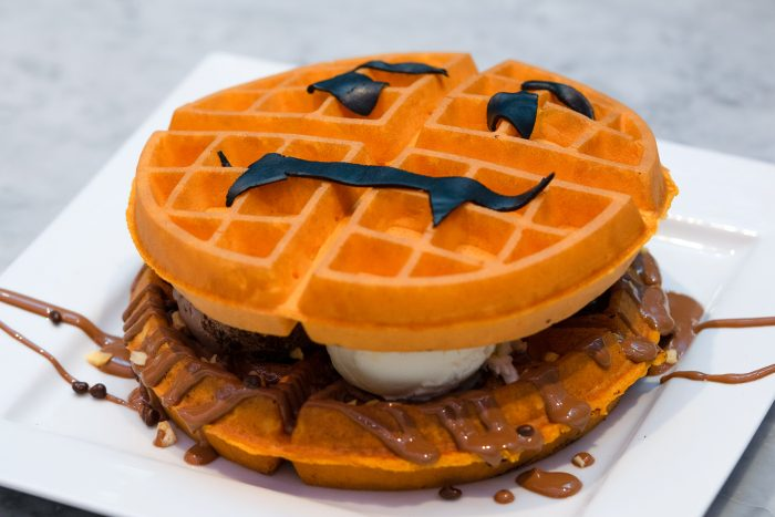 Food and Drink PR photography of pumpkin waffles at Mackie's 19.2