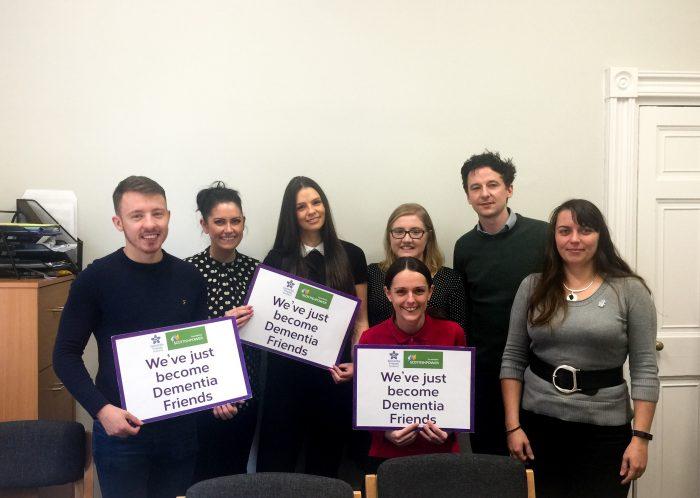Clyde Munro Dental Group team celebrate becoming Dementia Friends | Scottish PR agency