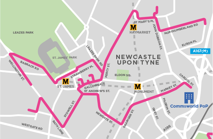 Commsworld NE1 Map