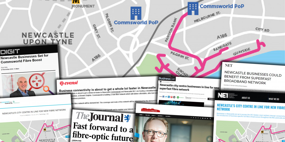 Tech PR success for Commsworld as they announce a new business fibre network in Newcastle