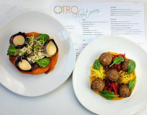 food and drink PR photography Otro Vegan mains for flexitarian menu