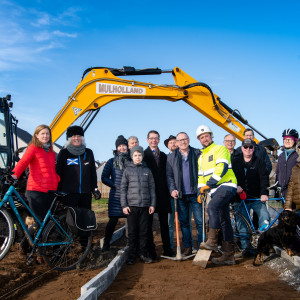 "Celebrations as ""first-stretch"" of Drem-Gullane path underway"
