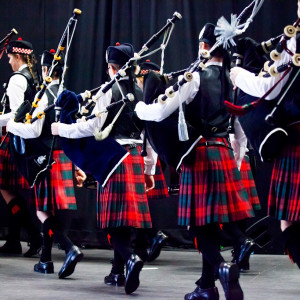Scottish PR photograph from the Scottish Schools Pipe Band Championships 2019