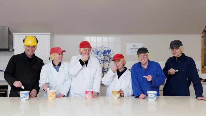 A team from across Mackie's business tastes different flavours in its new product kitchen | Food and Drink PR
