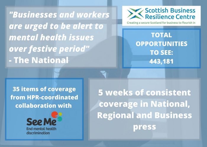 Scottish PR success montage for SBRC and See Mee partners