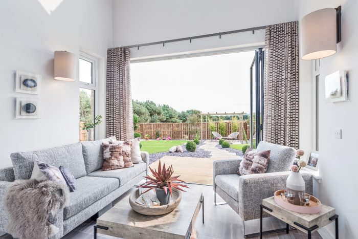 Property PR Photograph for CALA Homes of living room of home in Gullane at Fentoun Meadow development