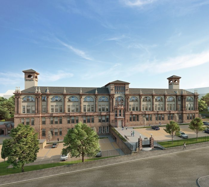 A Property PR photo for CALA Home's of Boroughmuir apartment building from front view