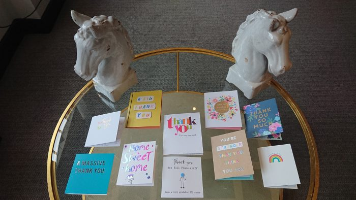 Thank you cards bring valuable hotel PR to Ten Hill Place