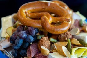 social care PR photography Cramond Residence Oktoberfest selection of German inspired food
