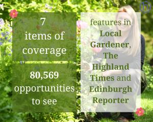 Scottish PR photography Royal Botanic Garden Edinburgh and Scottish Water Your Water Your Life success graphic