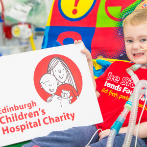 Charity PR photo of a young hospital patient supported b the ECHC charity in Edinburgh
