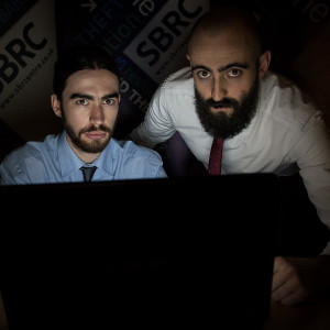 Tech PR photography of ethical hackers employed by SBRC