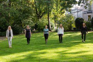 Legal PR photography Gibson Kerr new team in garden
