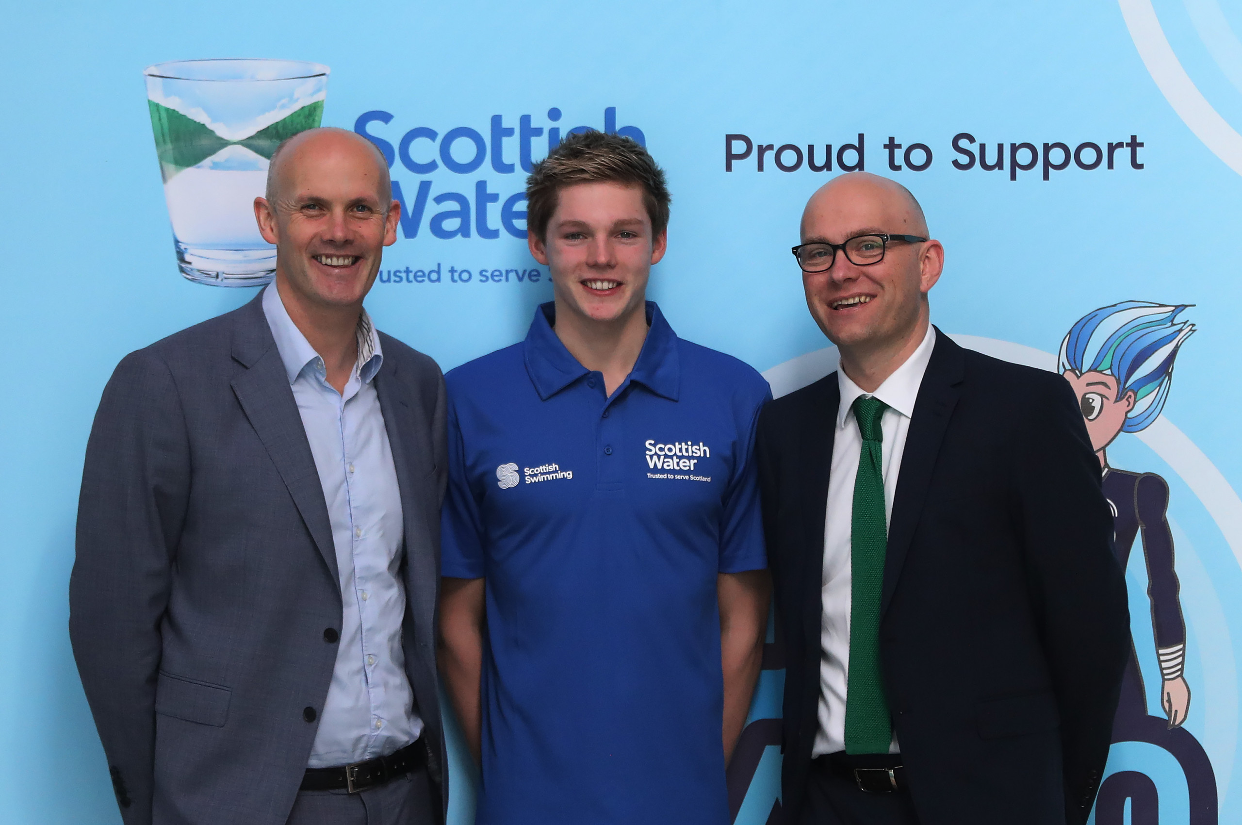 Olympic Swimer Duncan Scott is ambassador for Learn to Swim, supported by Scottish Water
