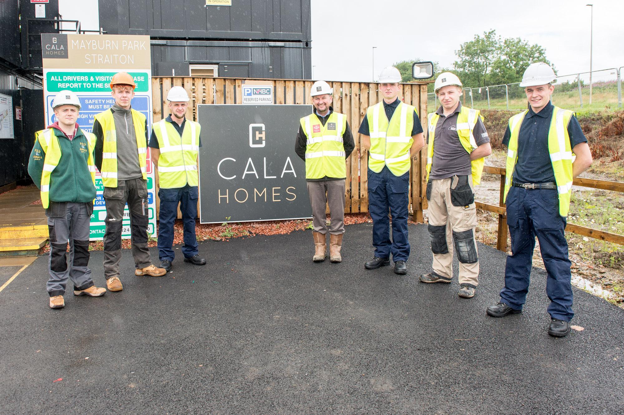 CALA's apprentices pose for Scottish PR Agency Story