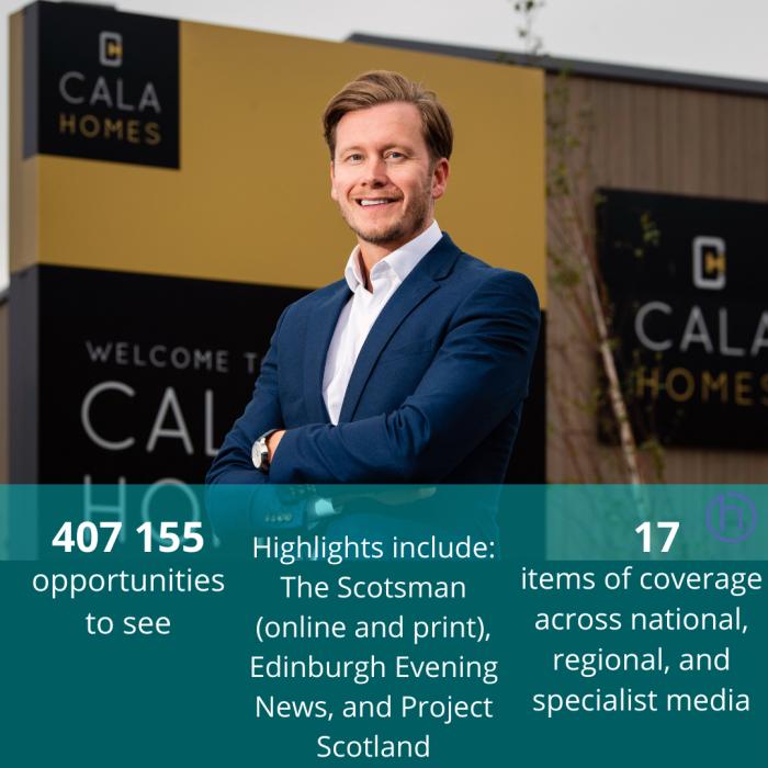 CALA Homes (East) new Managing Director, Craig Lynes, achieved media success with expertise of Edinburgh Property PR team.