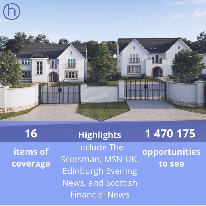 CALA Homes' Ravelrig Heights launch reaches millions with help from Scottish Property PR team