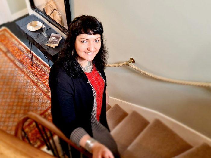 Scottish PR photography Michelle portrait colour internal 3, Property Studios.