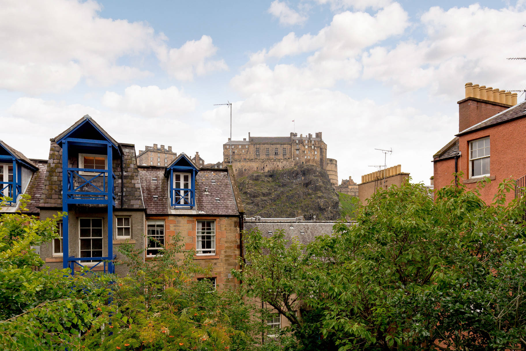 Property PR photography, Signal house view of Edinburgh Castle, Simpson & Marwick.