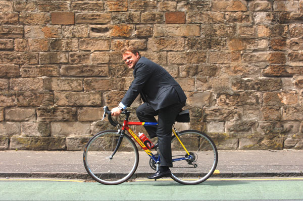 Biking Lawyer gets pedlling for cancer charity
