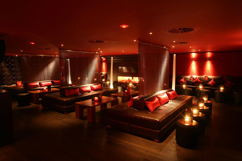 Hotel PR photograph of sophisticated Lulu bar underneath Tigerlily Edinburgh