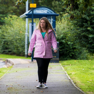 Charity PR photography, socially distant workplace walking, Paths For All.