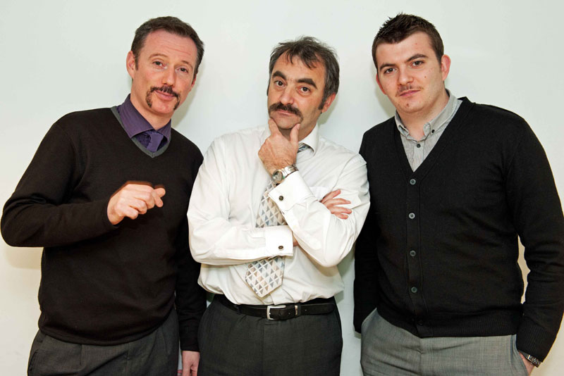 Three-Moustacheers