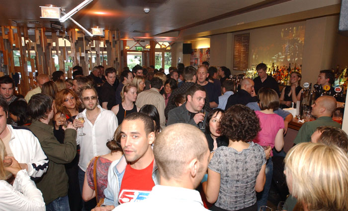 Public relations photos of opening party for Assembly pub in Edinburgh